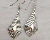 Art Deco Earrings, Silver Art Deco Earrings, Sterling Silver Ear Wires