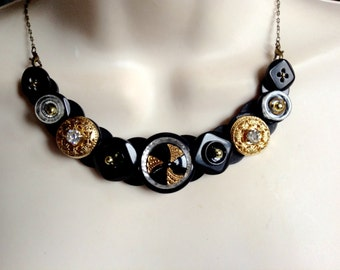 One Enchanted Evening button necklace