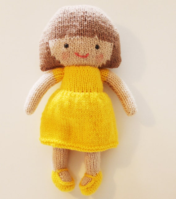 Knitting Pattern Large Rag Doll : Saffron Doll Knitting Pattern Toy Rag Doll Pattern PDF ...