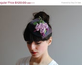 Fall Clearance Sale Littlest Lavender Fascinator by CIAO NINA