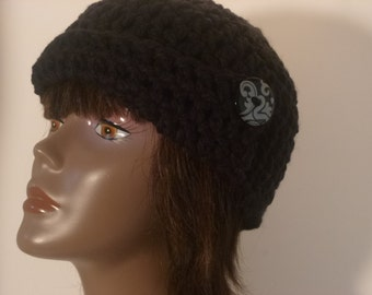 Womens Hat Collection Black  Chunky Hat  Gift For Women Under 50 dollars