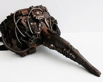 steampunk  mask, venetian mask with bionic eye