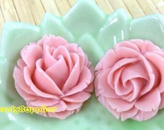 4 pcs 25mm Beautiful Wisteria Rose Cabochon (002S)