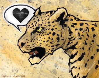 Leopard - 8x10 Art Print - Love - Jungle Cat
