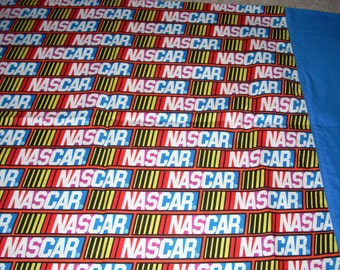 Nascar Pillowcase with blue trim  - Fits Standard and Queen size pillows