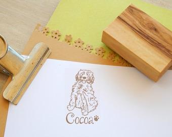 Custom Cockapoo Olive Wood Charity Stamp
