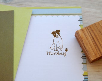 Charity Stamp Custom Sitting Jack Russell Olive Wood Stamp