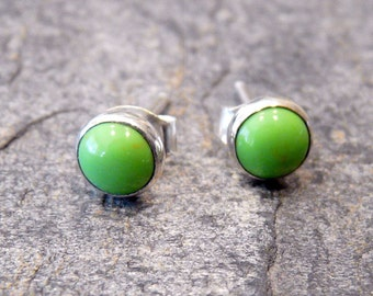 Sterling Silver Studs With 6mm Gaspeite