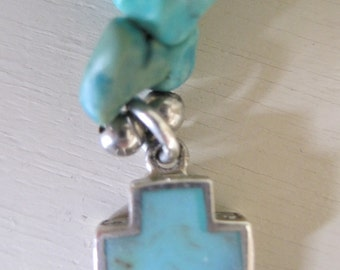 Turquoise Necklace with cross