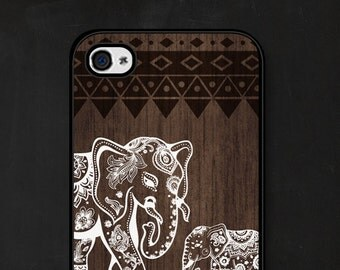 Gift Mom iPhone 6 Case iPhone 6s Case Wood Phone Case Gift Daughter Elephant iPhone 5s Case iPhone 5c Case Elephant Samsung Galaxy S5 Case