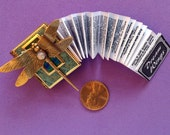 Dragonfly-miniature book pin with a readable story inside