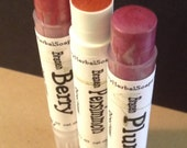 3 PacK--FULL Color LIP BALM w/Sea BuckThorn oil - 5 colors available--Free Shipping