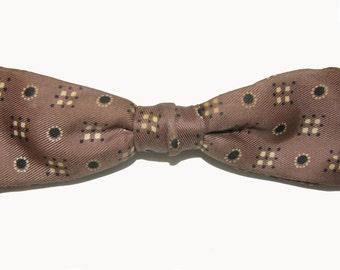 Vintage Bow Tie Mens 1950s Clip Back Necktie