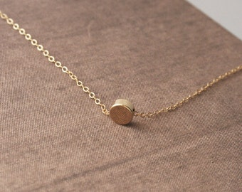Tiny Necklace,Gold Necklace,Round Necklace,Simple Necklace,Dainty Jewelry,Dainty Necklace,Layered Necklace