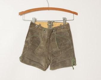 1950s children's Bavarian lederhosen - vintage 50s suede German shorts