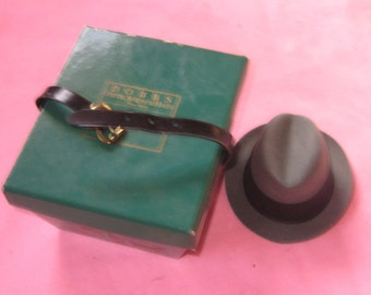 Way Sweet Vintage Salesman Sample Dobbs Hat Box N Fedora Hat Great For Display