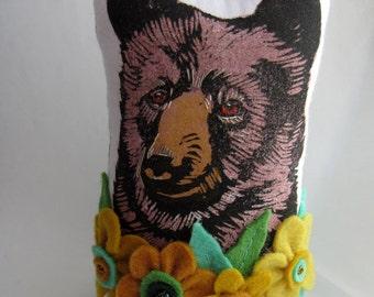 Bear Bust - Soft Sculpture