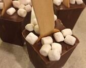 Marshmallow Milk Chocolate Hot Chocolate on a Stick