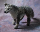 Wolf - Needle felted minature sculpture