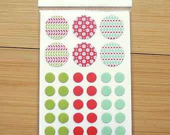 Circle Deco Masking Stickers - 03 Daily Christmas (3 x 4.3in) 4 sheets