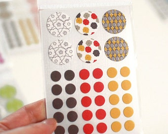 Circle Deco Masking Stickers - 06 Blossom (3 x 4.3in) 4 sheets