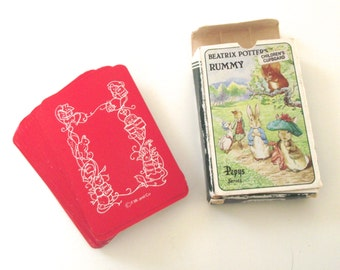 Beatrix Potter's Rummy, Vintage Pepys Series Card Game