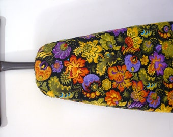 Ironing Board Cover - bright retro flowers in orange yellow and purple - home decor