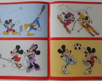 Counted Cross stitch mickey/minnie charts SPORTS and LEISURE soccer, skiing, running, bowling