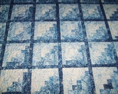 "Robert Kaufman ""Imperial Collection"" -Log Cabin-Quilt-60"" x 70""  Free Shipping-Made in USA by MJ"