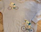 Vintage bike cyclist  Sweater sz  L