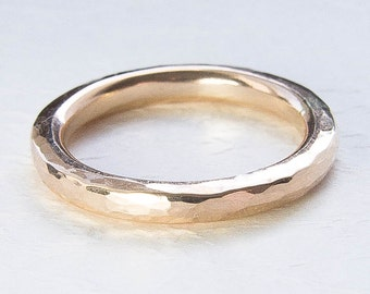 Chunky Ring. Thick Gold Ring. Hammered 14/20 Gold Filled Ring. Custom Ring. Stack Ring. Band