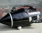 Rocket Purse Black & Silver