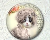 "Pocket Mirror Kitty 2.25"" Cat in a Hat  Buy 3 Get 1 Free 466"