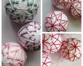 Custom Order Temari Ornaments for Kiry