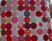 Pink and Red Crib Sized Snowball Quilt