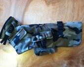 Army camo harness jacket