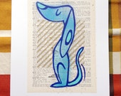 Prideful Pup LitKids Dictionary Dog Print, Blue