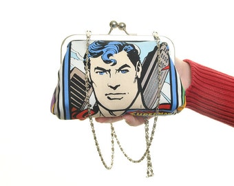 Superman Evening Bag Purse and Clutch In One