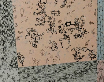 Dust to Dust Series: No. 6 / Mixed Media Drawing on Cradled Panel