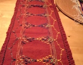 Rust Swedish Weave Table Runner