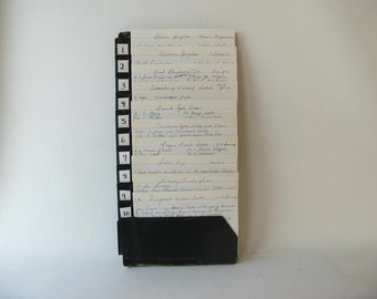 Vintage Wall File, Spring, Receipts, Industrial, Black, Storage