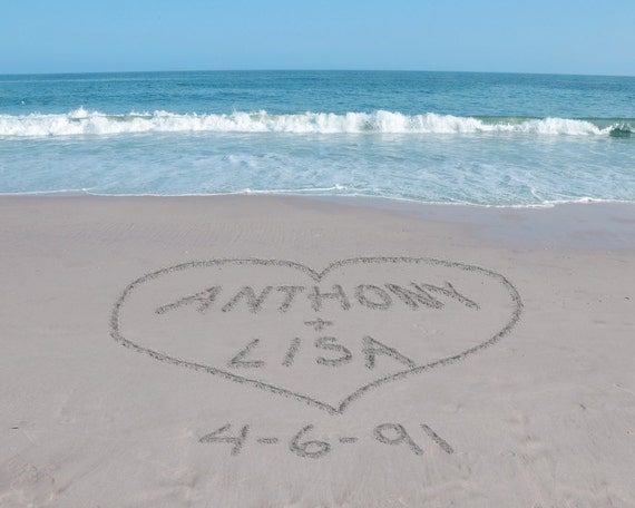 Sand Writing Personalized Art, Names on Beach, Unique Valentines Day Gift, Romantic Gifts for Couples, Personalized Anniversary Gift