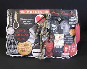 Anti Valentines, Love Stinks, Funny Valentines, Heart, Valentines Day Card, Gun And Bullets, Valentine Decoration, 35, Blank Greeting