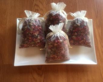 Rose Bud Sachet, 35 Organic Dried Rose Bud Sachets, Sachets, Wedding Sachet, Bridal Shower Sachet, Drawer Sachet