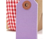 25 LAVENDER PURPLE hang tags - purple gift tags - purple cardstock tags 2 3/4 x 1 3/8 wedding favor tags, gift tags, parcel tags, hang tags
