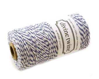 BLUEBERRY Blue Bakers Twine String for crafting, gift wrapping, packaging, invitations - 240 yards of bakers twine