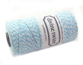 AQUA BLUE Bakers Twine 240 yard spool - Aqua blue Bakers Twine String for crafting, gift wrapping, packaging, invitations