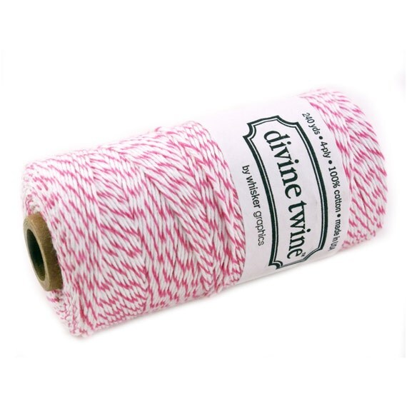 RASPBERRY Pink Bakers Twine - 240 yard spool - Pink Bakers Twine String for crafting, gift wrapping, packaging, invitations
