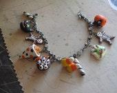 193Os Halloween. handsculpted original charm bracelet