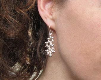 Estrogen Molecule Earrings - Sterling Silver